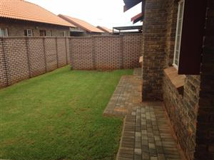 a Deal not to be missed! Wow -Spacious 3 bedroom 2 bathroom with double covered garage in Brand New Security Estate; NO TRANSFER COSTS . Lovely garden as well!