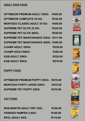 Keep your pets tail wagging with the best pet food at the best prices!!