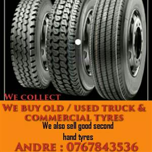 we buy old truck and commercial tyres