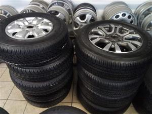 16 inch Fornd Ranger set of brand new mags with brand new set of 4 tyres