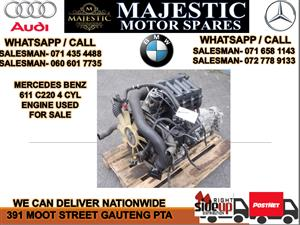 Mercedes benz C220 4 cyl 611 engine for sale