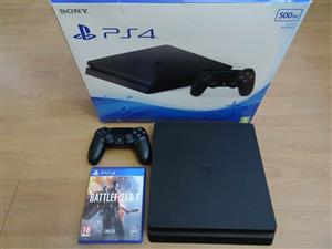 Sony Ps4 slim as new 500gb includes 1 free game