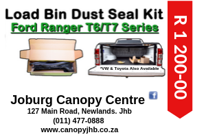 FORD RANGER T6/T7 LOAD BIN DUST SEAL KITS