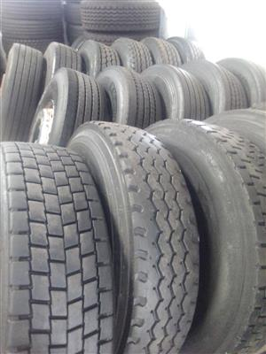 315,12R,385 VERY GOOD SECOND HAND TRUCK TYRES