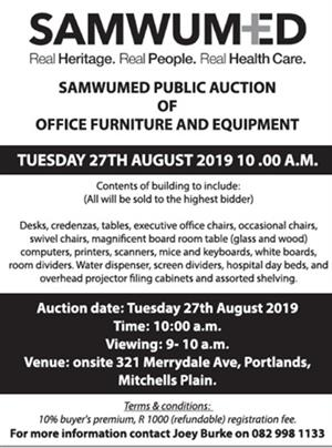 ON AUCTION- OFFICE EQUIPMENT & FURNTITURE