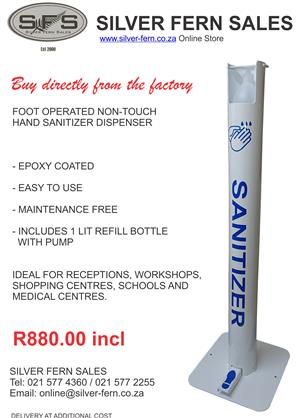 HANDS FREE SANITIZING STAND