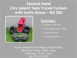 Second Hand City Select with Isofix Bases