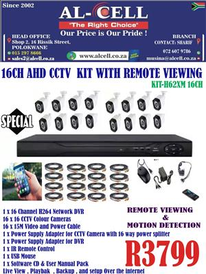 16 Channel AHD Cctv Kit With Remote Viewing