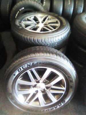 18 inch Toyota Hilux mag with 265-60-18 Bridgestone trye for R2500.00.