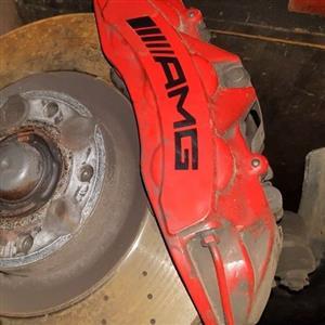 AMG brake calipers and discs