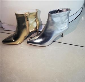 GOLD AND SILVER BOOTS