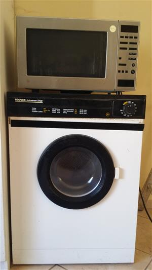 Hoover tumble dryer and microwave