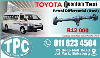 Toyota Quantum Diff - Used - New & Used Quality Replacement Taxi Spare Parts.