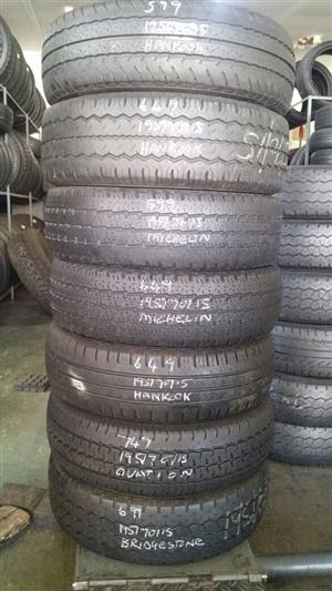 195/70/15 C SECONDHAND TYRES