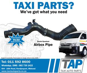 Toyota Quantum AIRBOX PIPE - Taxi Auto Parts for quality used taxi spares - TAP