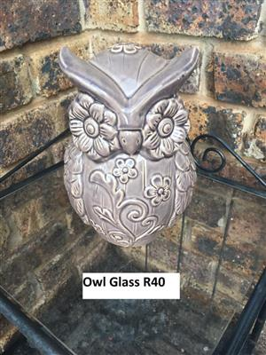 Owl glass for sale