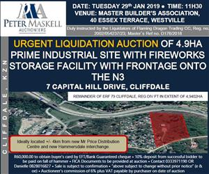 INDUSTRIAL PROPERTY DESCRIBED AS REMAINDER OF ERF 79 CLIFFDALE REGISTRATION DIVISION FT PROVINCE OF KWAZULU-NATAL AND KNOWN AS 7 CAPITAL HILL DRIVE, CLIFFDALE, OUTER WEST DURBAN IN EXTENT OF 4.9402HA