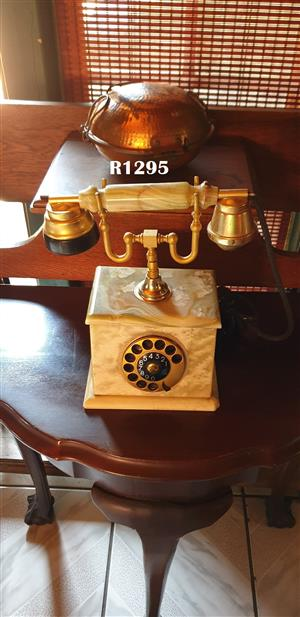 Antique Onyx Telephone