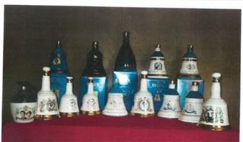 Royal and Christmas decanter collection
