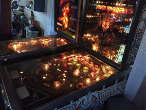 Space Invaders Pinball Machine by Bally, on order import only