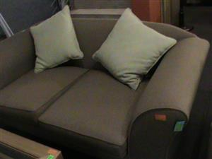 2 Seat fabric brown couch