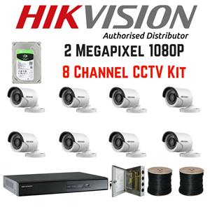 Hikvision 1080P 2MP 8 Channel 8 Camera Kit