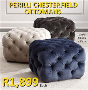 PERILLI CHESTERFIELD OTTOMANS