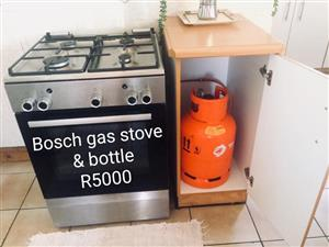 Bosch gas stove with bottle for sale