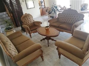 Hand crafted Italian Inlay lounge