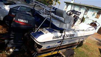 Survivor 550 (5.5mt mono hull boat ) 2 x 50hp Yamaha 2 stroke motors