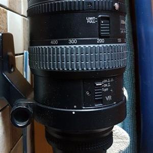 AF VR Nikkor 80-400mm 1:4.5-5.6D lens