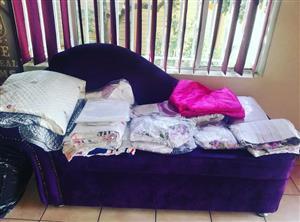 Dark purple suede couch