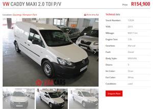 2013 VW Caddy Maxi panel van CADDY MAXI 2.0TDi (81KW) F/C P/V