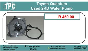Toyota Quantum Used 2KD Water Pump For Sale.