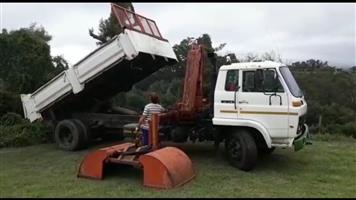 6m3 5.5Ton Tipper (Drop side) Truck with Telescopic 3Ton Grab/Crane