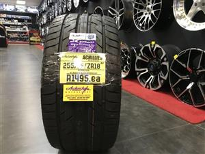 "18"" inch tyres tire 255/35/18 Achilles brand new"