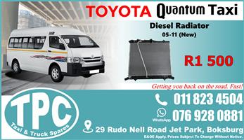 Toyota Quantum Diesel Radiator 05-11  - New - Quality Replacement Taxi Spare Parts.