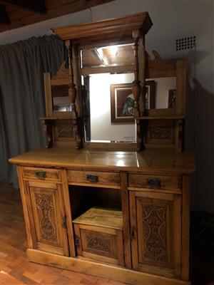 Antique oregon pine buffet/cabinet