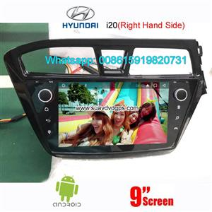 Hyundai i20 2014-2016 uk au right hand side radio android GPS camera