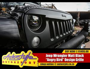 Jeep Wrangler Matt Black Angry Bird Grille Kit
