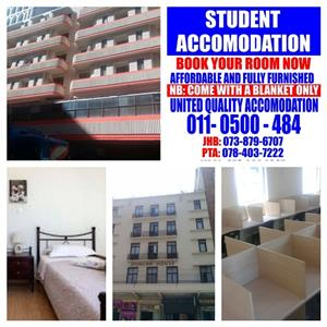 Student Accommodation in Johannesburg for this year and next year