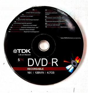 TDK DVD-R 5 Pack Recordable DVD 5 x 15