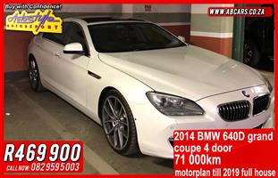 2014 BMW 6 Series coupe 640D COUPE INDIVIDUAL A/T (F13)