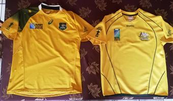 Two Australian rugby jerseys