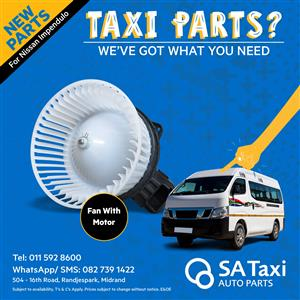 NEW Heater Blower Fan with Motor suitable for Nissan NV350 Impendulo - SA Taxi Auto Parts