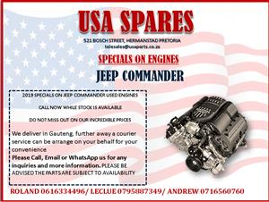 JEEP COMMANDER 2019 USED ENGINE SPECIALS