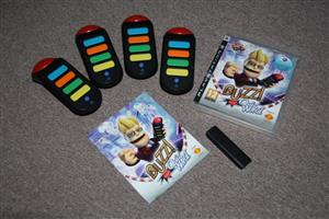 PS3 Buzz Music quiz with 4 wired buzzers