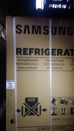 Samsung side by side black stainless steel finish fridge for sale