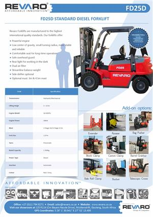 Forklifts 2,5,3 and 3, tons by Revaro