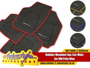 Moulded Rubber Mats for VW Polo Vivo